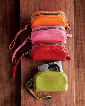 Fully lined leather camera cases from neiman marcus for Neiman marcus affiliate program